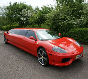 Ferrari Limo in Birmingham, Derby, Coventry and Midlands