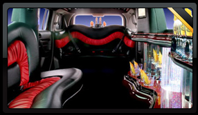 Red Hummer Limo Interior
